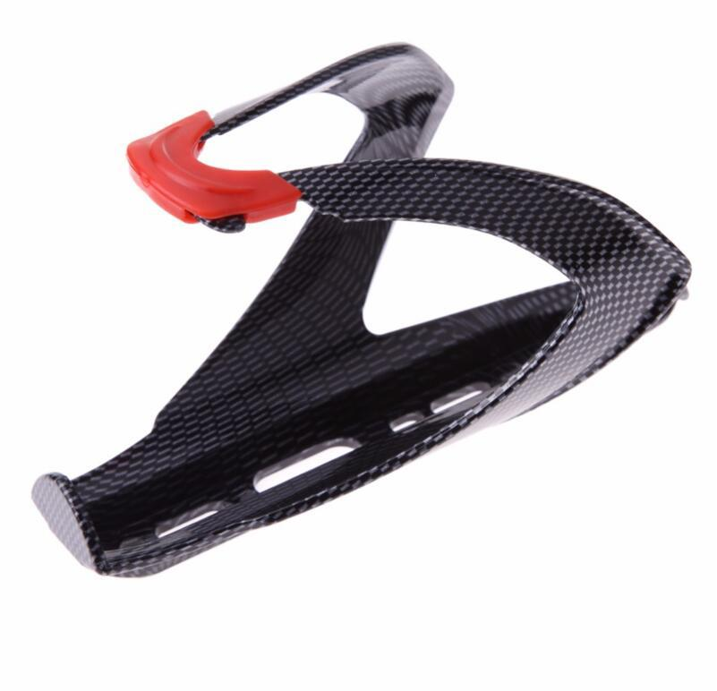 Carbon Fiber Road Mounting Bicycle Bike Cycling Outdoor Water Bottle Holder Holding Rack Cage Lightweight Bicycle Accessories