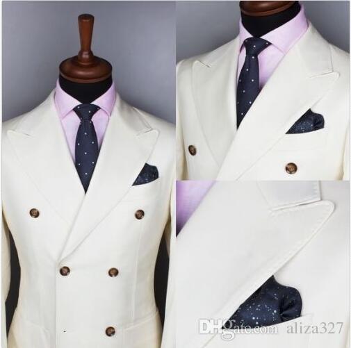 erkekler Düğün Smokin Erkekler Çift Breasted Düğün Damat smokin Sağdıç Sağdıç Partisi Yeni Suits için Şık takım elbise