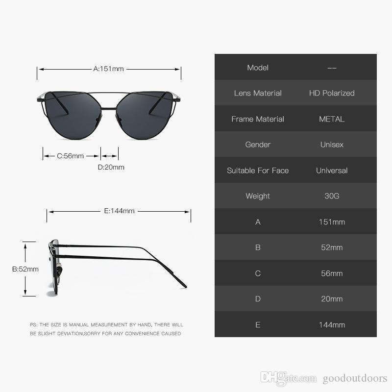 2017 neue Sonnenbrille 1904 europäischen und amerikanischen Mode Sonnenbrillen Metall Farbe Film Sonnenbrillen