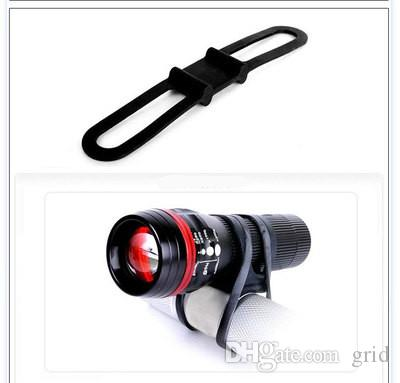 Grid Factory Price HOT Bike Bicycle LED Flashlight Light Torch Holder Bracket Clip Silicone Elastic Strap Bandage