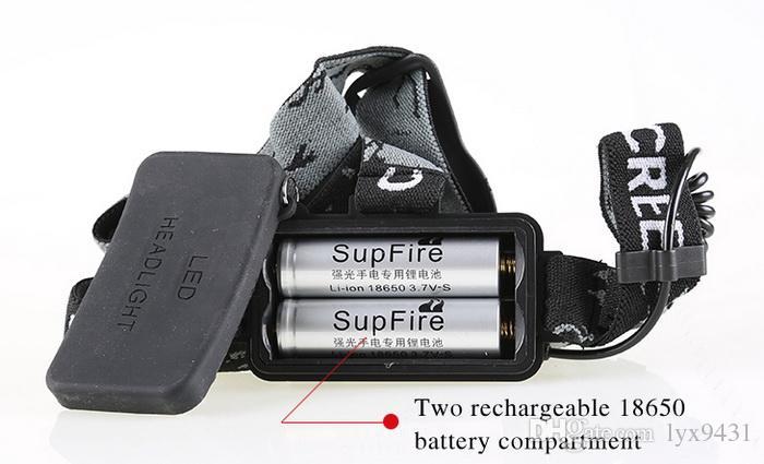 Zoom Lampada frontale ricaricabile CREE XML T6 LED Zoomable Faro 3 modalità Miniera mestiere messa a fuoco caccia Torcia Impermeabile Caccia campeggio Ciclismo