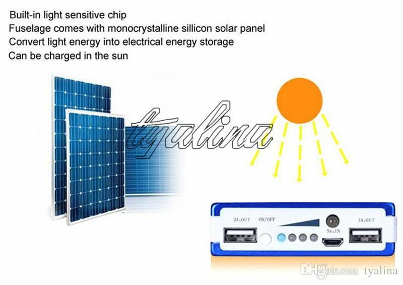 30000 mah 태양 배터리 충전기 30000mAh 휴대용 두 배 USB 태양 에너지 패널 전원 은행 휴대 전화 패드 타블렛 MP3 MP4