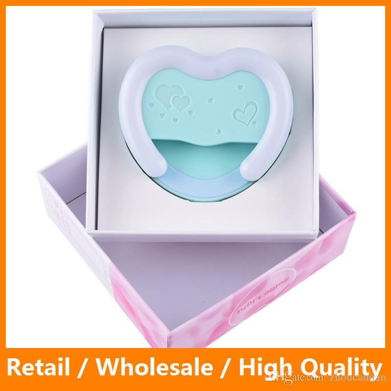 Universal Heart Shaped Mini LED Flash Smartphone Selfie Ring Light Portable  Round Flashes For IPhone 7 7 Plus Samsung S8 S8 Plus Led Selfie Light Mini  Led ...