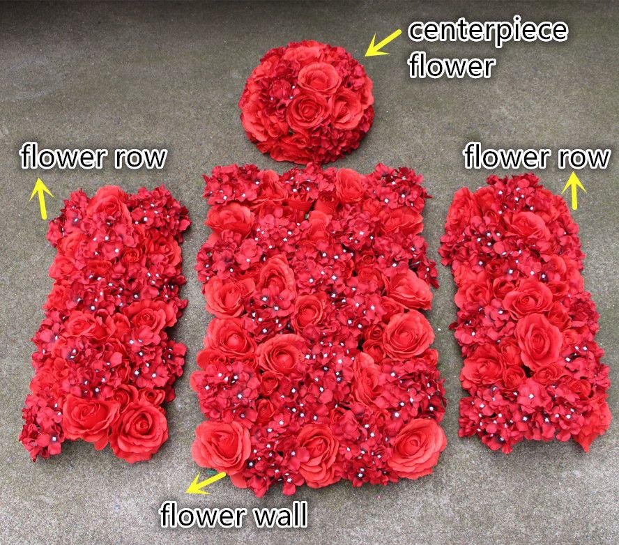 Acheter Nouveau Fleur Artificielle Mur Ligne Table Maitresse Fleur