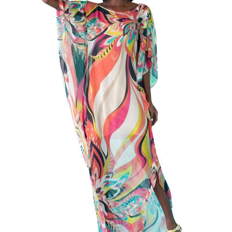 82a6bee124 2019 Beach Dress Kaftan Pareo Sarongs Sexy Cover Up Chiffon Bikini Swimwear Tunic  Swimsuit Bathing Suit Cover Ups Robe De Plage From Angela2979, ...
