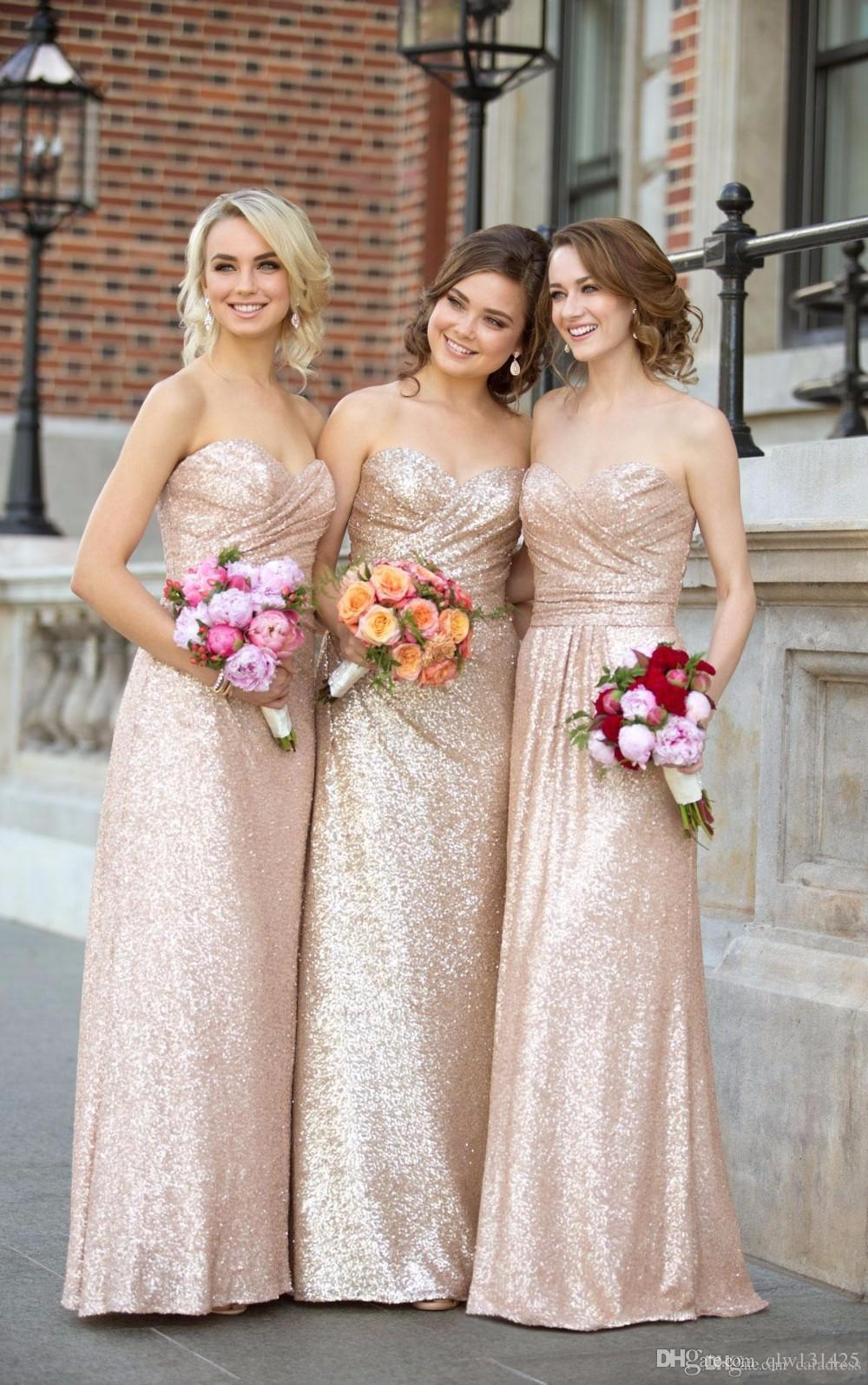 Gold sequin bridesmaid dresses rose gold mermaid cheap long gold sequin bridesmaid dresses rose gold mermaid cheap long wedding party gowns formal maid honor dress be18 bridesmaid dresses online champagne bridesmaid ombrellifo Gallery