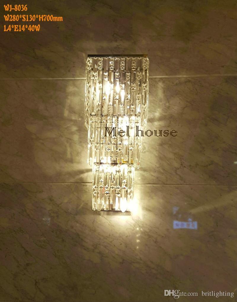 Otel duvar ışıkları LED Duvar Kapalı Işık Salonu Lobi Ofis Evi Otel Lamba otel koridor aplik oturma odası ışıkları kristal