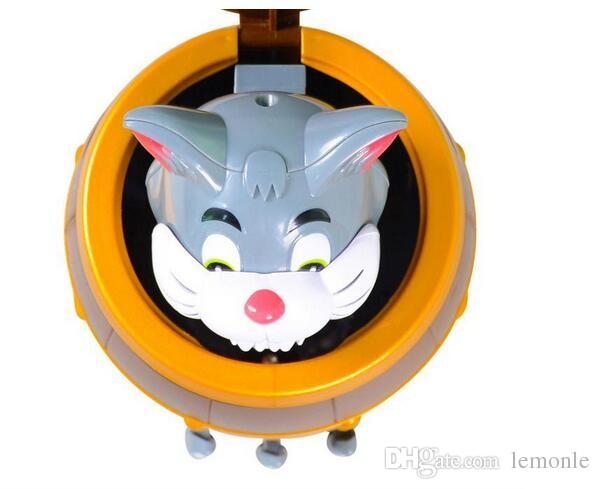 Lucky Game Pirate Cat Toy Tom Cat barrel Practical Jokes Tricky Toys with package box