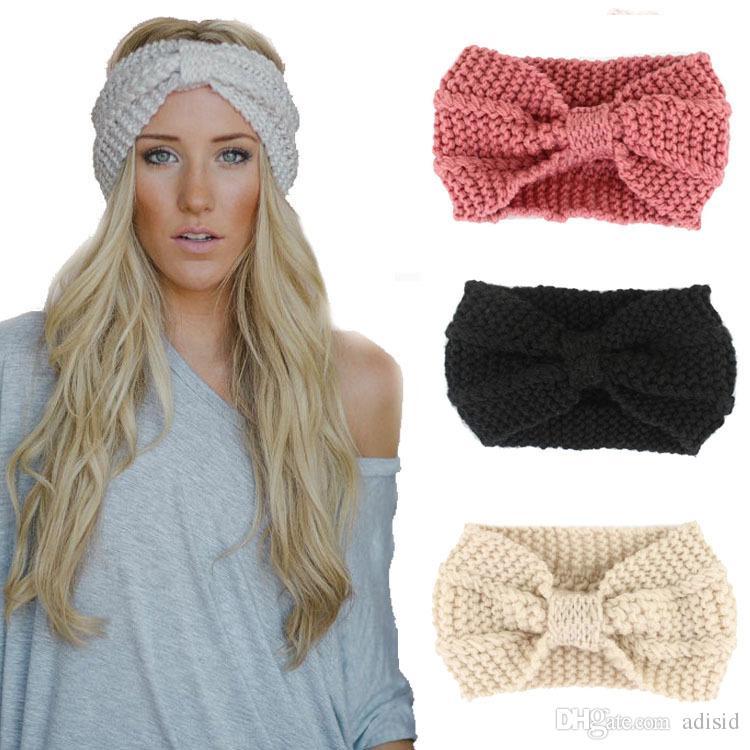 Großhandel Womens Damen Wolle Stretch Haar Bands Winter Haarband ...