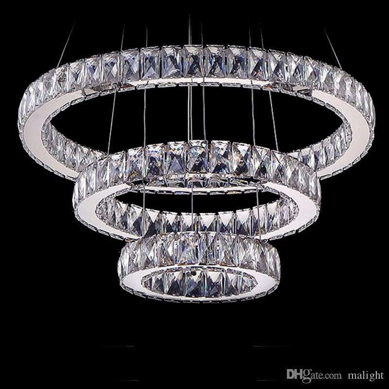 Großhandel Moderne Kristall 3 Ringe Pendelleuchte Sparkling ...