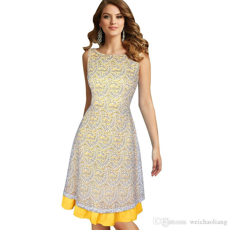 906e5d7fbf9db New Women Celebrity Elegant Sexy v Back Floral Lace Slim Tunic Work  Business Casual Party Tea Swing Skater A-Line Dress