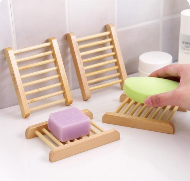 Fashional Badezimmer Soap Tray Handgefertigte Holzgeschirr Box aus Holz Seifenschalen als Halter Wohnaccessoires