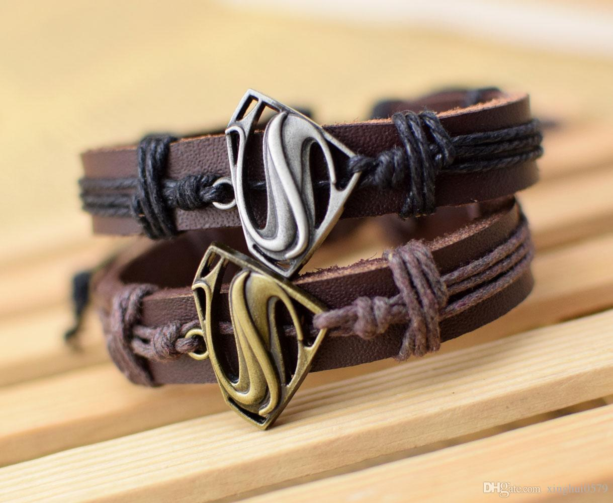 Supply Cool New Genuine Leather Bracelet Jewelry Bangle
