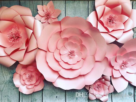 Paper flowers blush paper flower backdrop bridal shower baby paper flowers blush paper flower backdrop bridal shower baby birthday party decorations photobooth backdrop wedding backdrops online with 19563piece on mightylinksfo