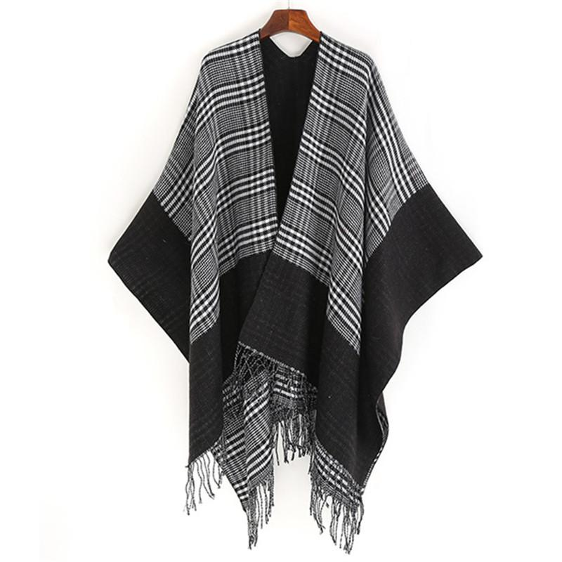 52156ee4aea New-Woman-Oversized-Cashmere-Plaid and Check Tartan  Scarf-Blanket-Pashmina-Tassel-Open-Shawl 3 color for choose Chirstams party  scarf