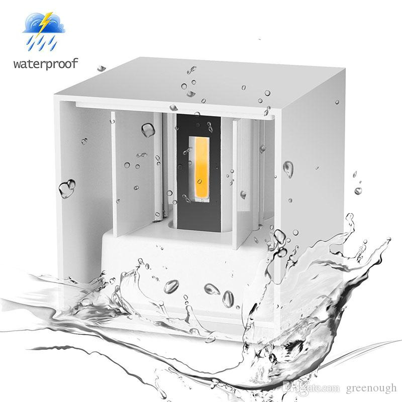 7W 12W LED Wall Lamp Sconces Wall Lights Cube LED Source Up And Down Lighting Modern Indoor Outdoor Engineering Porch Garden Light