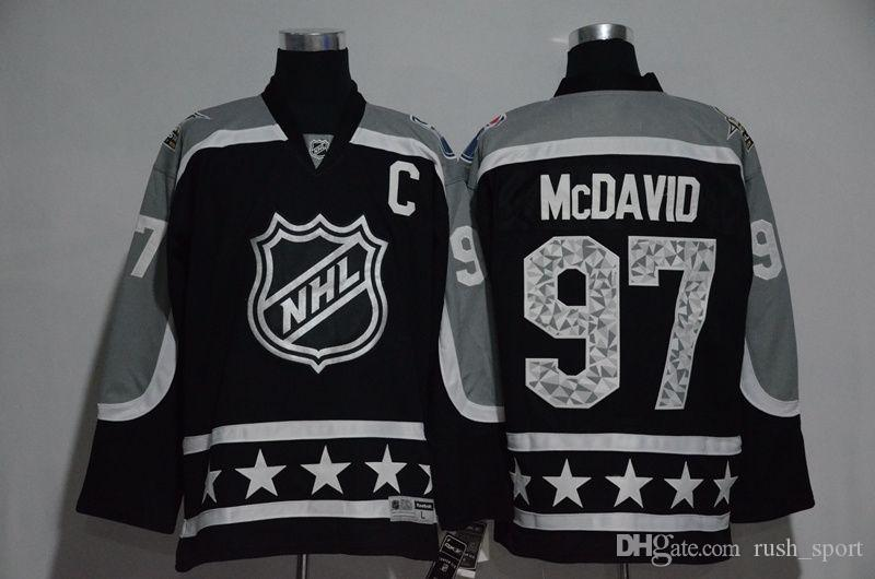 2019 Edmonton Oilers NHL Jerseys 2016 2017 All Star Game Cheap Hockey  Jerseys McDAVID 97 HALL 4 Black Drop Shipping From Rush sport ab77a091246