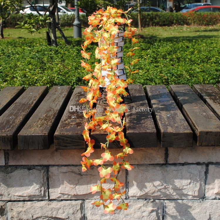 60cm Artificial Hanging Vine Fake Foliage Flower Leaf Garland Plant Home Decoration 23.5 inch length for choose