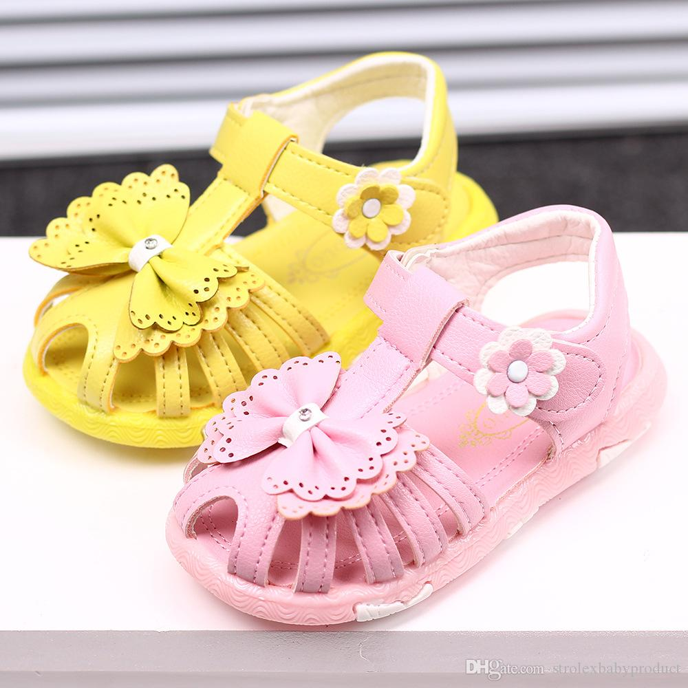 2017 New Arrival Summer Cool Baby Girls Sandals Shoes Skidproof Toddlers  Infant Children Kids Flower Shoes PU Leather 2017 New Arrival Summer Cool  Baby ... 2cbba44b4248