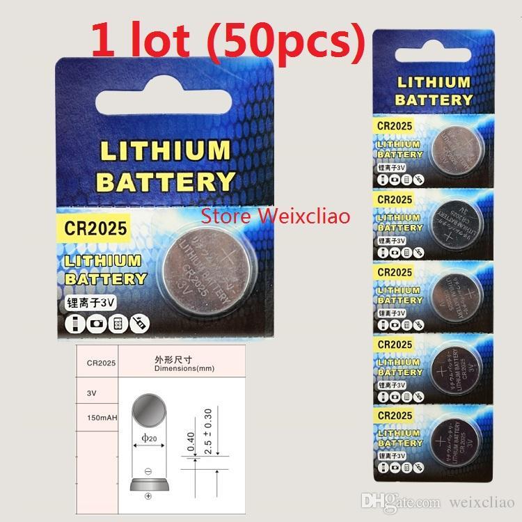 1 CR2025 3V lithium li ion button cell battery CR 2025 3 Volt li-ion coin batteries