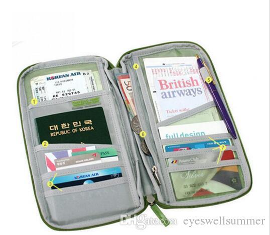 20x Candy Color Travel Passport Credit ID Card Holder Cash Wallet Organizer Bag Purse Wallet Fashion