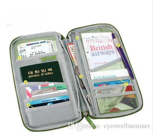 20x Doce Cor Titular do Cartão de IDENTIFICAÇÃO de Crédito Passaporte De Viagem Cash Wallet Organizer Bag Bolsa Carteira Moda