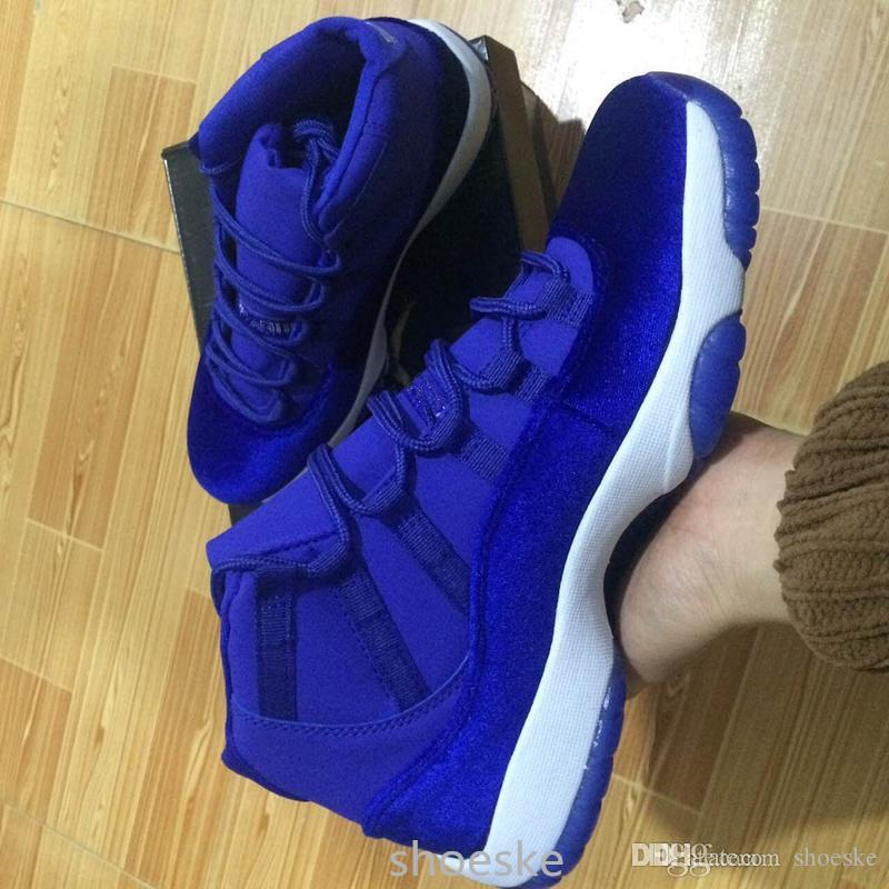 promo code ee2e5 5d466 2017 Mens and Women High Retro 11 Royal Blue Basketball Shoes Out Door  Sports Sneakers for Men Size US5.5-13 Euro 47