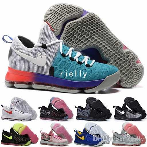 2017 Kevin Durant Kd 9 Mens Basketball Shoes,Oreo Cool ...