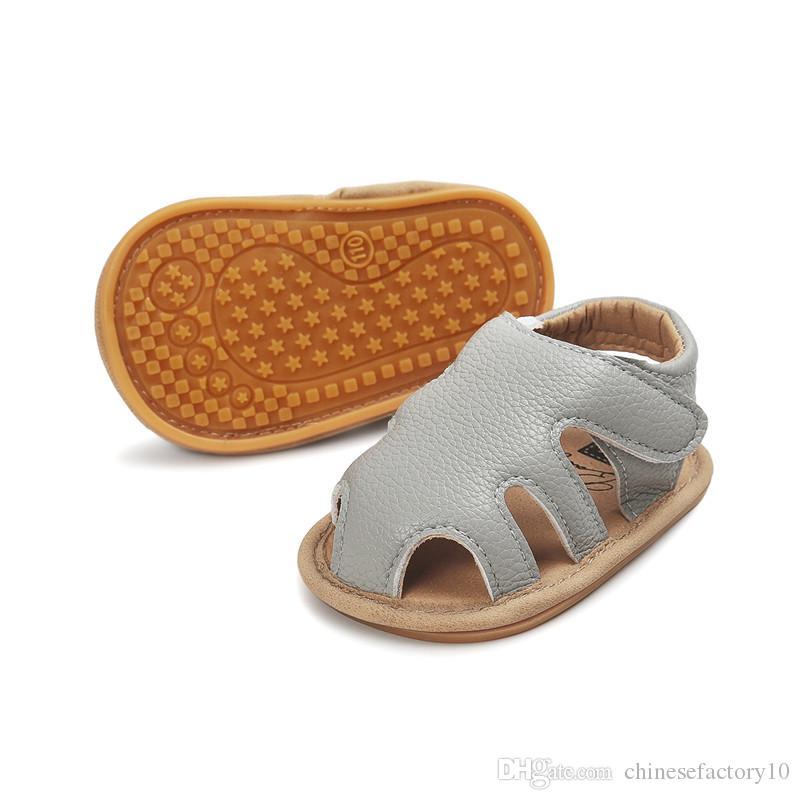 Sandali bambino con fibbia in gomma suola Facile da mettere sulle scarpe estive neonato Toddler Suola morbida Buon design