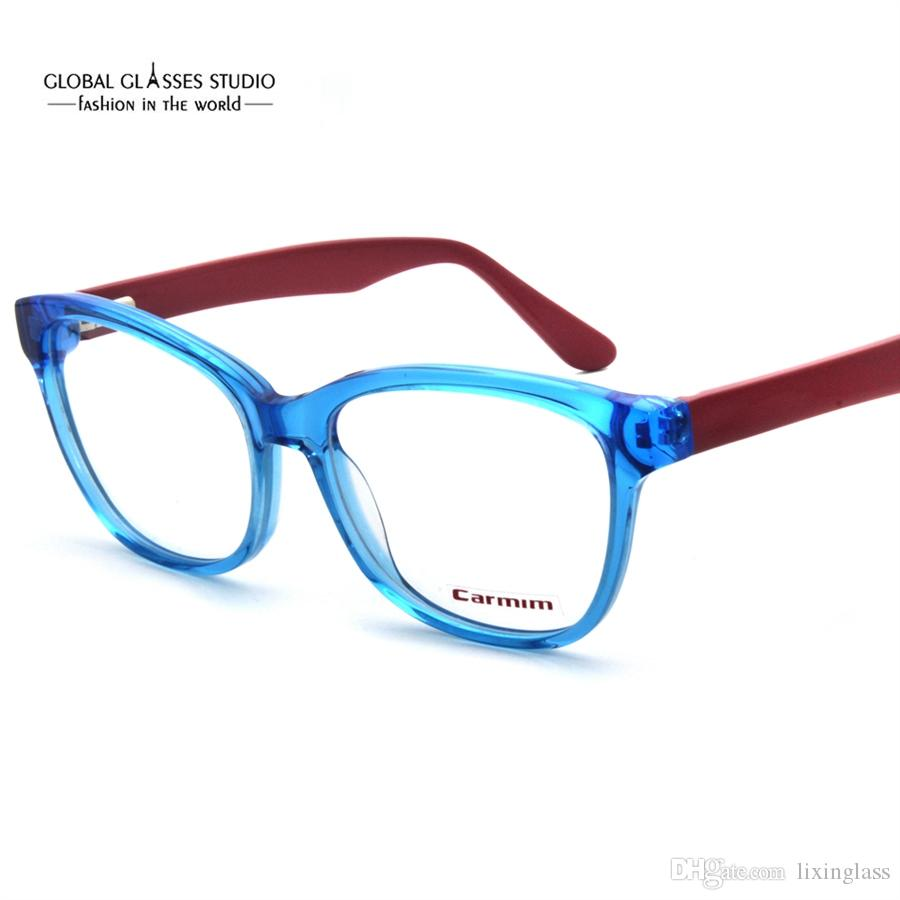 2018 Blue Dark Red Cute Men / Women Fashion Design Glasses Frame ...