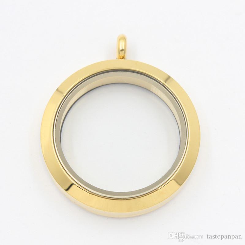 Panpan مجوهرات 30 ملليمتر تويست العائمة المدلاة قلادة 316l الفولاذ المقاوم للصدأ والزجاج العائم المدلاة سحر سعر المصنع