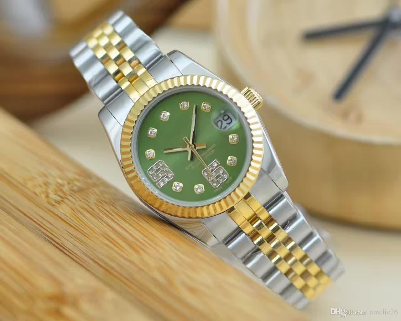 Uhr-Art und Weisegold Uhr der neuen Ankunftsluxux 316 Edelstahl für Frauen-Armbanduhren kühlen Entwurf QUARTZ Uhren ab