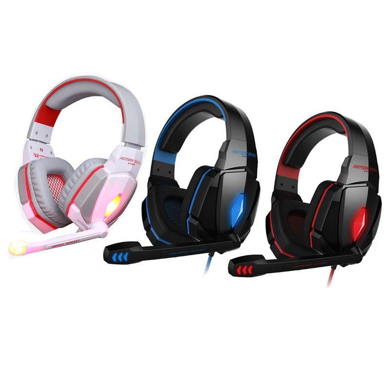 KOTION CADA G4000 fone de Ouvido Estéreo Gaming Headband Headband com Controle de Volume de Microfone para PC Jogo DHL Livre