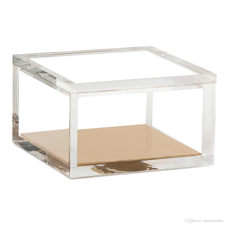 Compre Caja De Almacenamiento Clara Del Plexiglás Del Organizador De ...