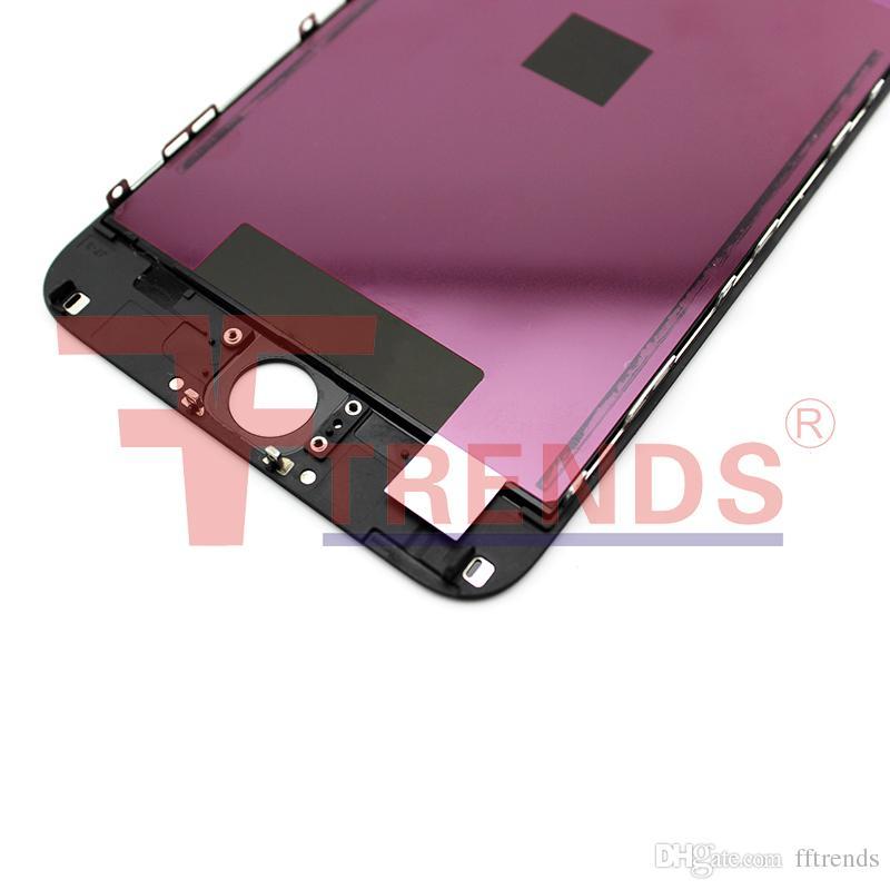 Alta qualidade para o iphone 6 screen display lcd display touch digitador assembléia completa preto branco frio quadro imprensa 100% testado