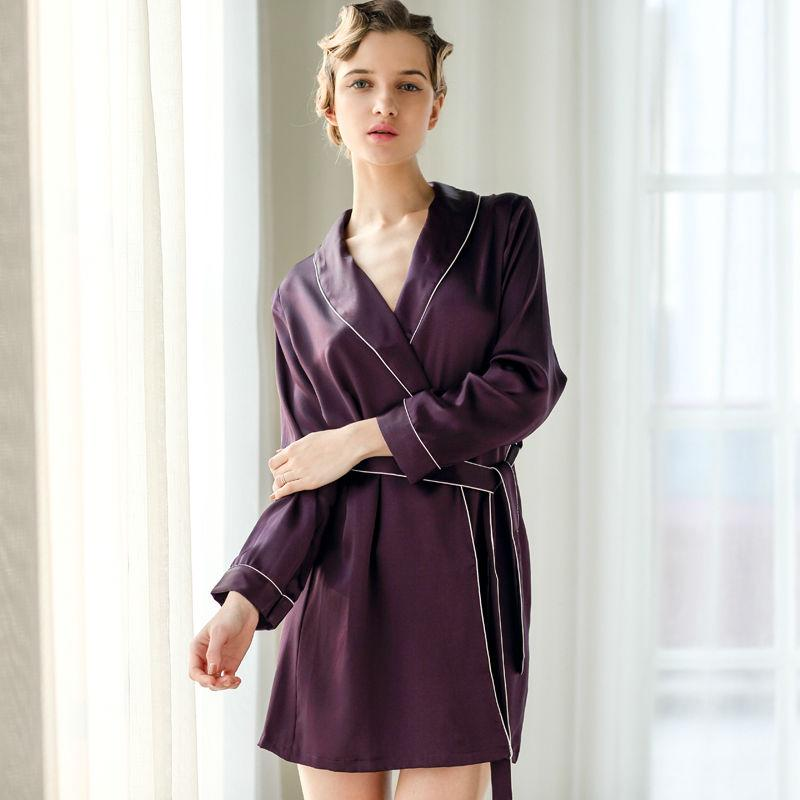 2019 Wholesale Women S 100% Pure Mulberry Silk Robe Luxury Pajama Robes  Sexy Nightwear Silk Nighties Sexy Lingerie Nightgown Female Sleepwear From  Sandlucy fb6b52984