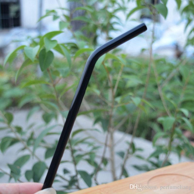 Renkli Borosilikat Kokteyl İçecek Payet Bent 7 Inç 8mm Barware Düğün Parti Malzemeleri Için İçme Cam Payet ZA1853