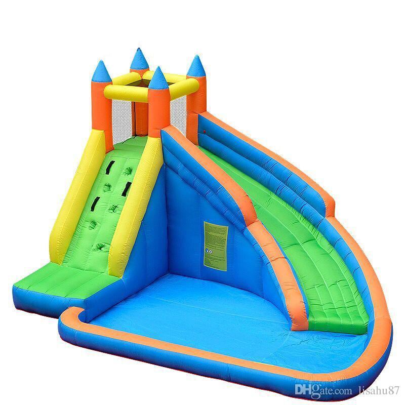 2018 Kids Inflatable Water Slide Big Pool Bounce House Jumper Bouncer Jump  Bouncy Castle From Lisahu87, $738.7 | Dhgate.Com