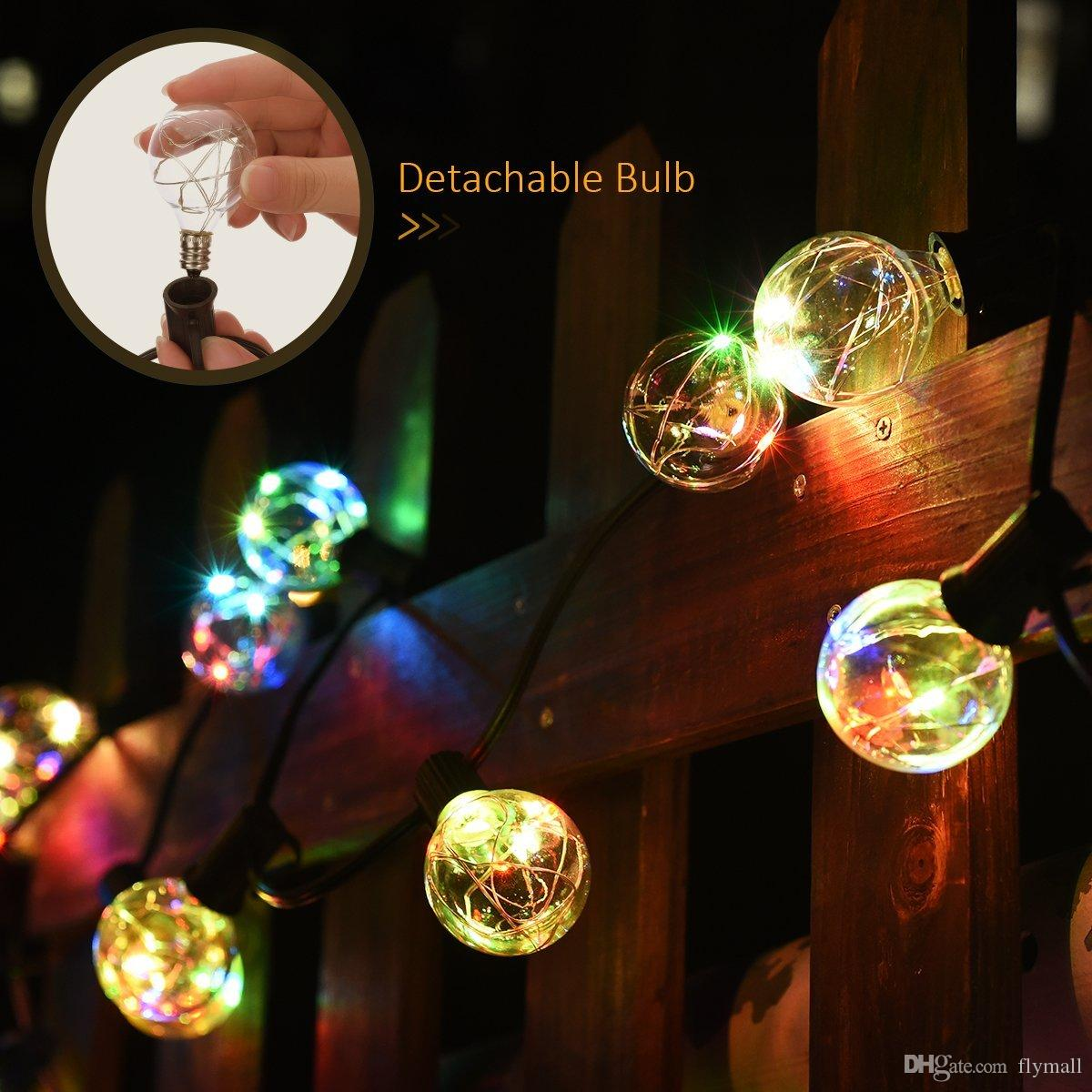 Vintage G40 Globe String Lights with 25 Clear Bulbs Copper Wire Fairy String Lights for Christmas Garden Patio Party Wedding Decoration