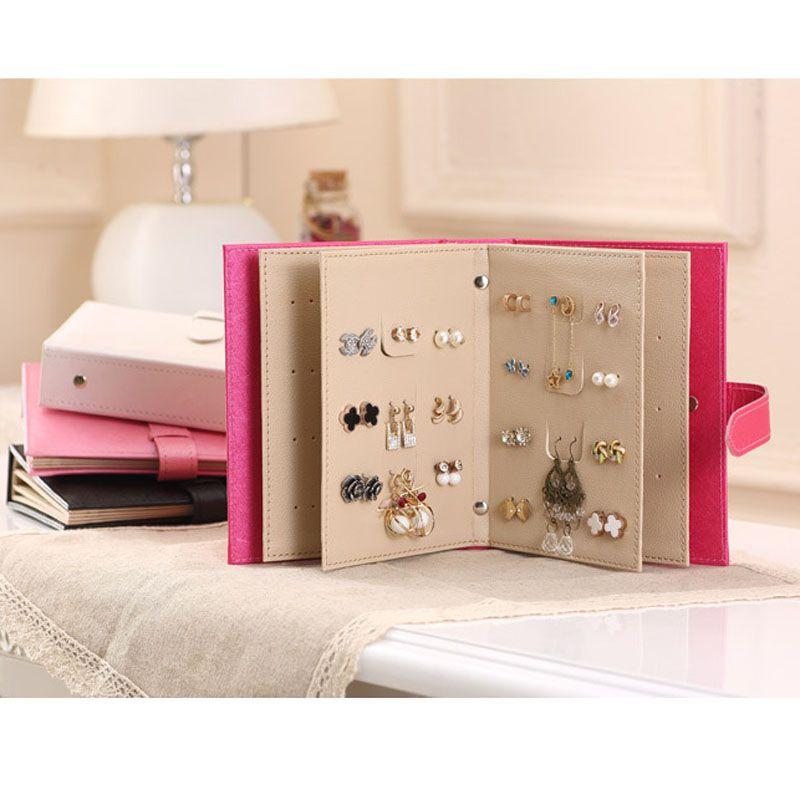 Earring Book Travel Jewelry Display Storage Box Travel Jewelry