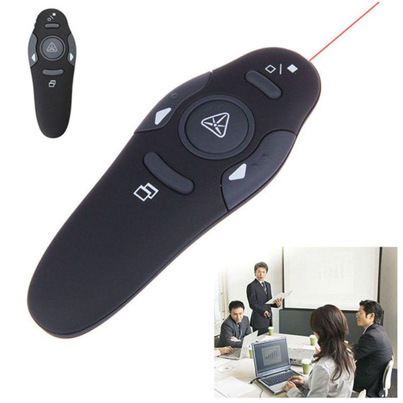 Sıcak Satış Kırmızı Lazer Pointer RF 2.4 GHz Sunum PPT Clicker USB Alıcısı ile 5 MW Kablosuz Presenter Uzaktan Kumanda