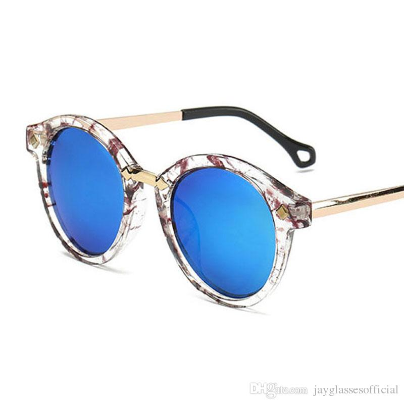 e5a39c5824 Retro Trend HD Mirror Sunglasses Round Rivet Unisex Men Plastic Frame  Vintage Oversized Glasses Popular Driving Fashion Round Sunglasses Fashion  Women ...