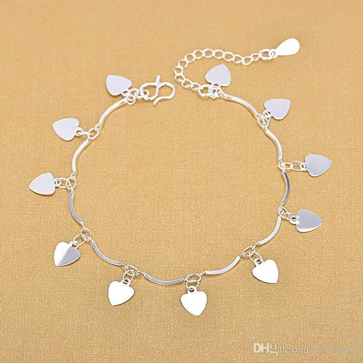 a97151045 2019 Foot Jewelry Anklets Hot Sale Silver Anklet Link Chain For Women Girl  Foot Bracelets Fashion Jewelry Wholesale 0595WH From Huwanny, $0.61 |  DHgate.Com