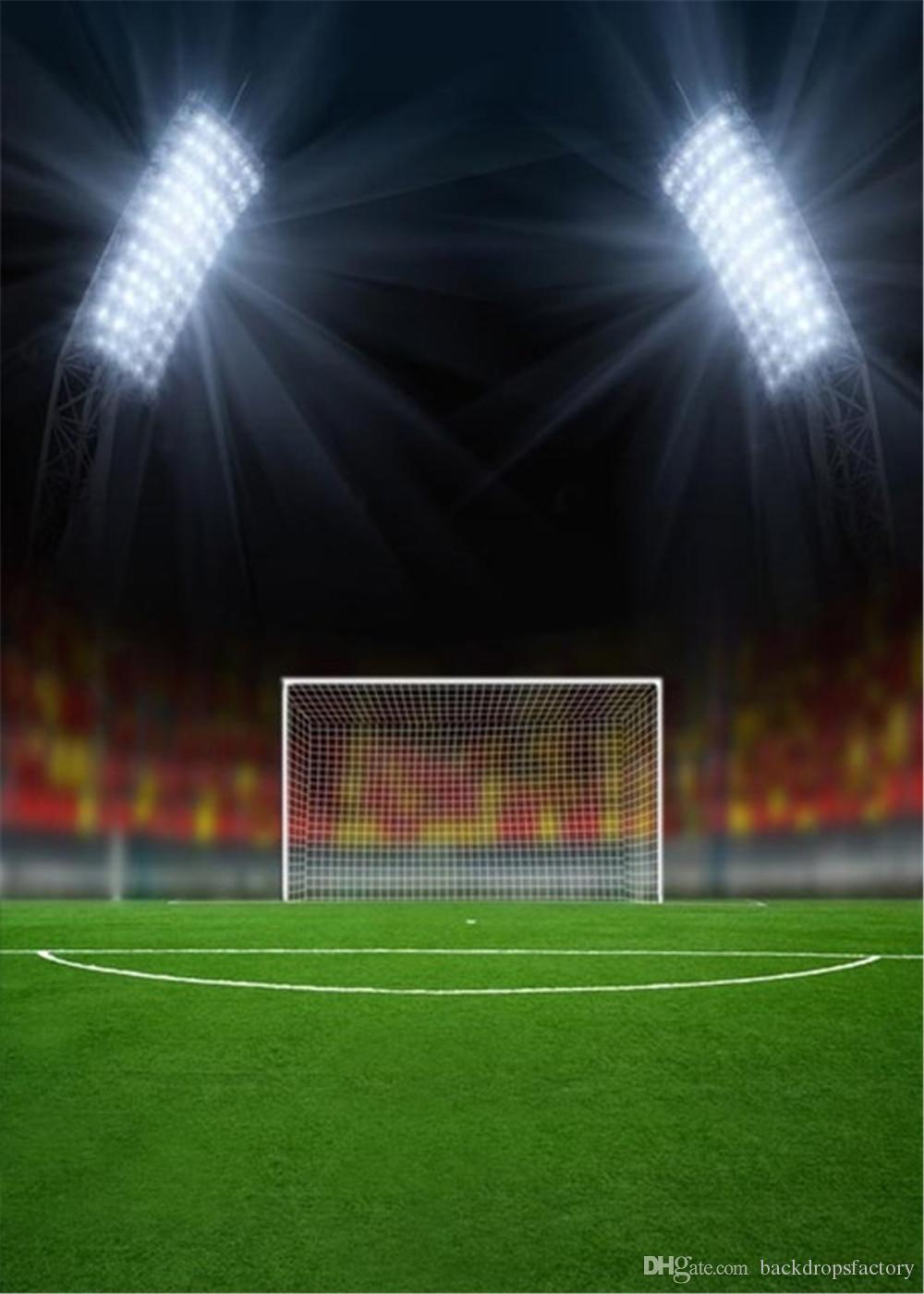 2019 Sports Theme Football Field Backgrounds For Photo Studio Bright