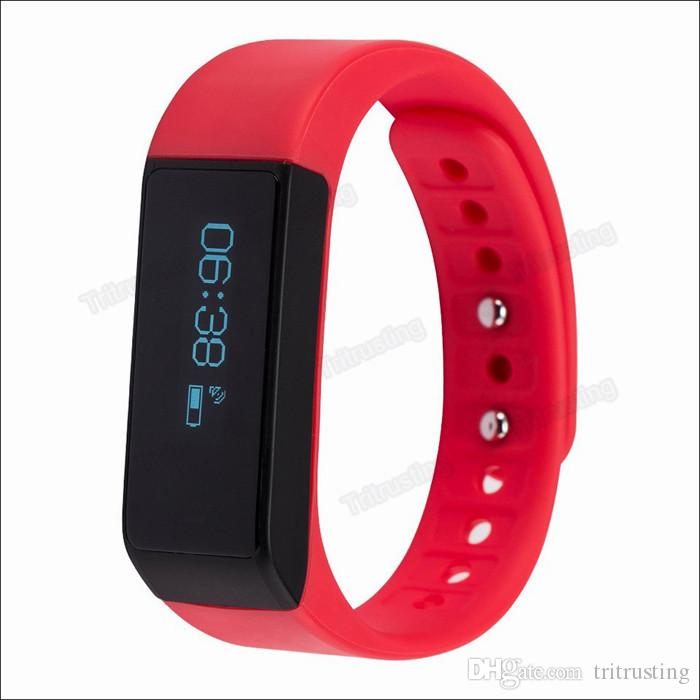 I5 Plus Bluetooth Smart Bracelet Wireless Sports Wristband Waterproof Touch-screen Activity Tracker For Android IOS with Retail Package MQ20