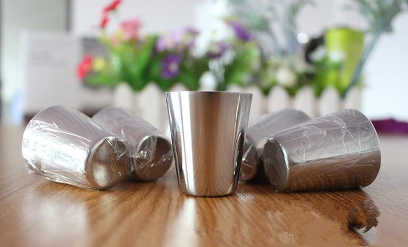 Оптовая торговля-30 мл портативный нержавеющей стали рюмки Barware пиво вино питьевой стакан на открытом воздухе Кубок JF-073