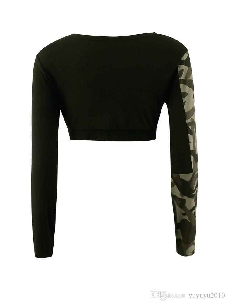 2017 primavera verão mulheres conjuntos de fatos de treino de camuflagem de fitness mulheres terno conjunto traje 2 peças sexy tops + leggings ternos mtl170730