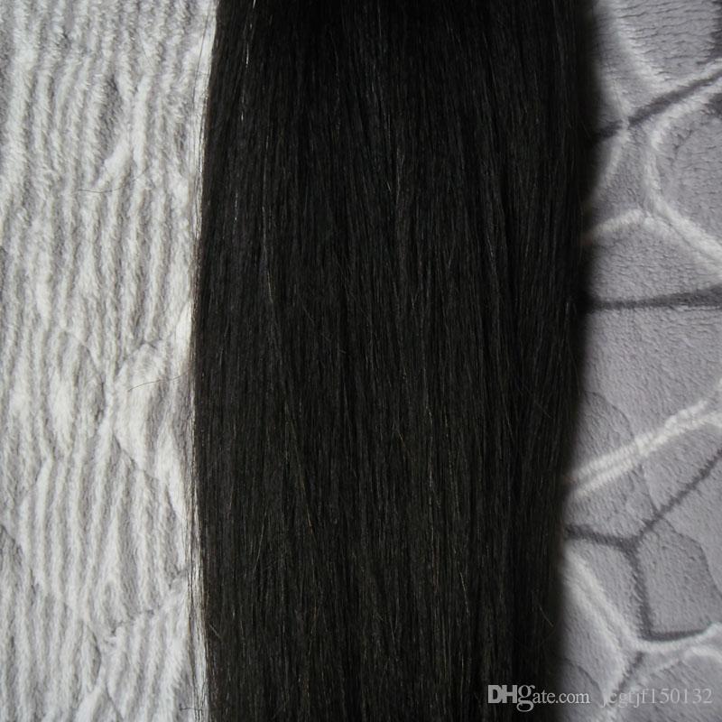 검은 페루 스트레이트 처녀 머리 100g 인간의 머리 짜다 페루 처녀 머리 직조, 흘리지, 엉킴 무료
