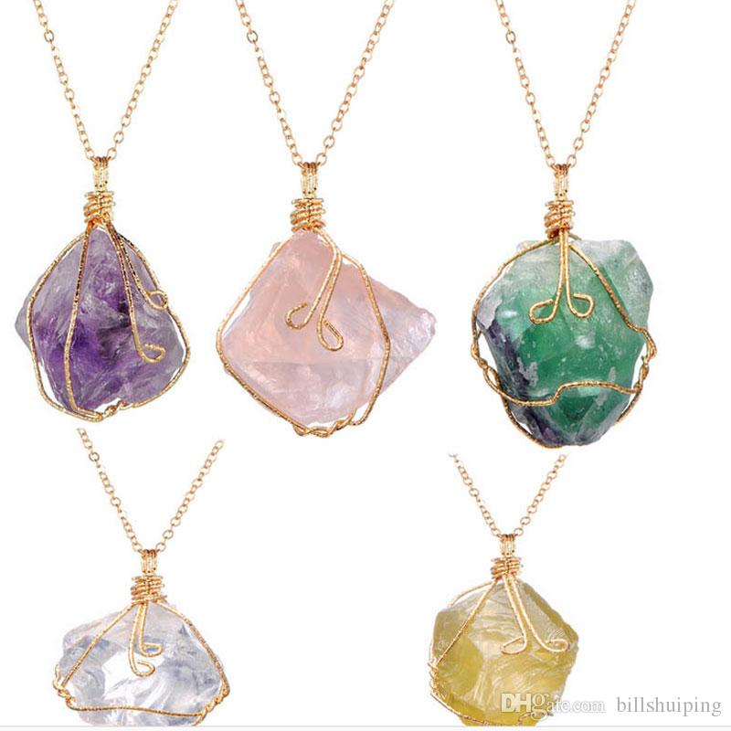 stone raw gemstone fullxfull amethyst citrine necklace zoom listing il