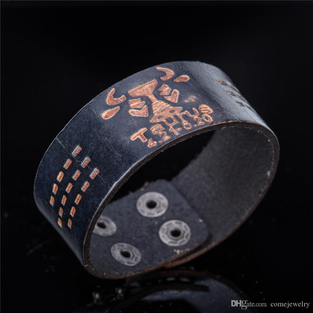 Taurus 12 Zodiac Signs Punk Wrap Constellations Adjustable fashion Sign Vintage Leather Bracelet Best festival and birthday gifts